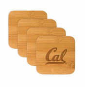 California Golden Bears Classic Artisan Bamboo Coaster Set