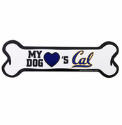 California Golden Bears Dog Bone Car Magnet
