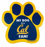 California Golden Bears Dog Paw Car Magnet