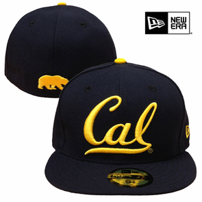 California Golden Bears New Era 59FIFTY&reg Cal Cursive Logo Fitted Hat - Navy - Click to enlarge