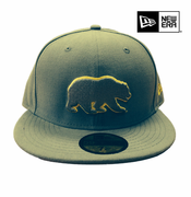 California Golden Bears New Era 59FIFTY&reg Grey Pop Bear Logo Fitted Cap - Grey