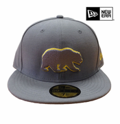 <b><i>All Sales Final</i></b> - California Golden Bears New Era 59FIFTY&reg Grey Pop Bear Logo Fitted Cap - Grey