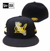 <b><i>All Sales Final</i></b> - California Golden Bears New Era 59FIFTY&reg State Flective Fitted Hat - Navy