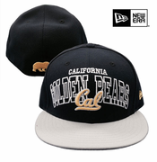 <b><i>All Sales Final</i></b> - California Golden Bears New Era 59FIFTY&reg Wordmark Central Flat Brim Fitted Hat - Navy/Grey/Gold