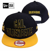 <b><i>All Sales Final</i></b> - California Golden Bears New Era 9FIFTY&reg Word Mark Stacked Snapback Cap - Navy/Gold