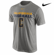 California Golden Bears Nike Baseball Team Issue Legend Tee - Grey