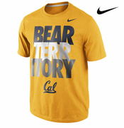 California Golden Bears Nike 'Bear Territory' College Local Tee - Gold