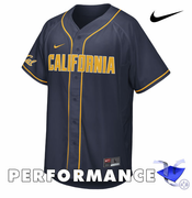California Golden Bears Nike Dri-FIT Baseball Replica Jersey - Navy