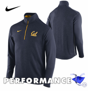 California Golden Bears Nike Dri-FIT Coaches 1/2 Zip Knit Top - Navy