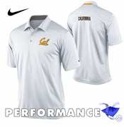 California Golden Bears Nike Dri-FIT Coaches Polo - White