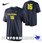 California Golden Bears Nike Dri-FIT Football #16 Legend Tee - Navy