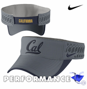 California Golden Bears Nike Dri-FIT Football Tech Visor - Charcoal