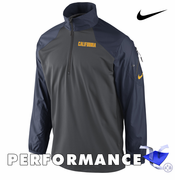 California Golden Bears Nike Dri-FIT Hybrid 1/2 Zip Top - Grey/Navy