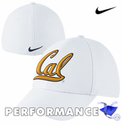 California Golden Bears Nike Dri-FIT Swoosh Flex Hat - White