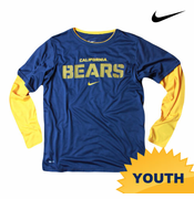 California Golden Bears Nike Dri-FIT Youth 2-Fer Tee - Navy/Gold