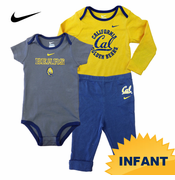 California Golden Bears Nike Infant Short Sleeve and Long Sleeve Creeper with Pant Set
