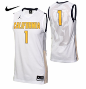 California Golden Bears Nike Jordan Men's Basketball Replica Home Jersey - White