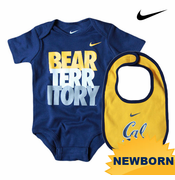 California Golden Bears Nike Newborn Creeper & Bib Set - Navy