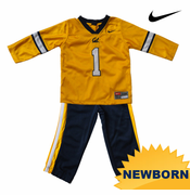 California Golden Bears Nike Newborn Replica Jersey Jog Set - Gold/Navy