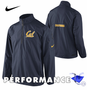 California Golden Bears Nike Storm-FIT Lockdown 1/2 Zip Woven Jacket - Navy