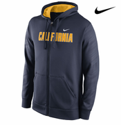 California Golden Bears Nike Therma-FIT College Warp KO Full Zip Hoody - Navy
