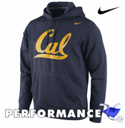 California Golden Bears Nike Therma-FIT College Warp Performance Pullover Hoody - Navy