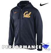 California Golden Bears Nike Therma-FIT KO Full Zip Performance Hoody - Navy