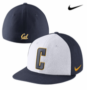 California Golden Bears Nike True Block C Fitted Hat - White/Navy