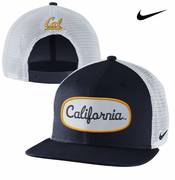 California Golden Bears Nike True Fan Mesh Snapback Cap - Navy/White