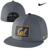 California Golden Bears Nike True Fan Snapback Hat - Charcoal