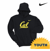 California Golden Bears Nike Youth Cursive Logo Hoody - Black