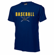 California Golden Bears Ouray Baseball Cross Bats Tee - Navy
