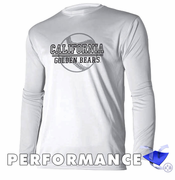 California Golden Bears Ouray Baseball Long Sleeve Performance Tee - White
