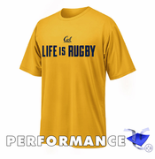 California Golden Bears Ouray Life Is Rugby Performance Tee - Gold
