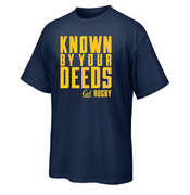 California Golden Bears Ouray Rugby Known By Your Deeds Blended Tee - Navy