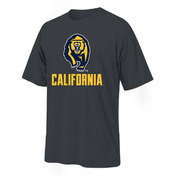 California Golden Bears Ouray Secondary Bear Logo Tee - Graphite