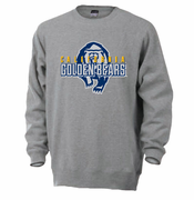 California Golden Bears Ouray Secondary Logo Crew Sweatshirt - Grey