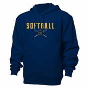 California Golden Bears Ouray Softball Cross Bats Hoody - Navy