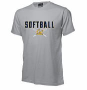 California Golden Bears Ouray Softball Cross Bats Tee - Grey