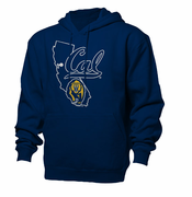 California Golden Bears Ouray State Outline Pullover Hoody - Navy