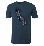 California Golden Bears Ouray Vintage State Outline Triblend Tee - Navy