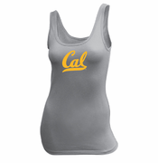 California Golden Bears Ouray Women's Cursive Logo Jersey Tank Top - Grey