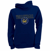 <b><i>All Sales Final</i></b> - California Golden Bears Ouray Women's Volleyball Asym Hoody - Heathered Navy