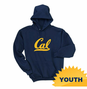 California Golden Bears Ouray Youth Cal Cursive Logo Pullover Hoody - Navy