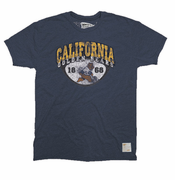 California Golden Bears Retro Brand 1868 Oski Shield Triblend Tee - Navy