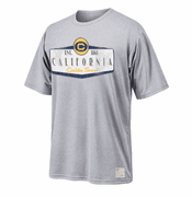 <b><i>All Sales Final</i></b> - California Golden Bears Retro Brand California Shield Tee - Grey