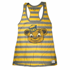 California Golden Bears Retro Brand Women's Stripe Tank - Gold - Click to enlarge