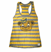 California Golden Bears Retro Brand Women's Stripe Tank - Gold