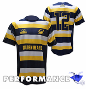 California Golden Bears Rhino Rugby #12 Striped Short Sleeve Performance Top