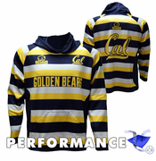 California Golden Bears Rhino Rugby Striped Pullover Performance Hoody